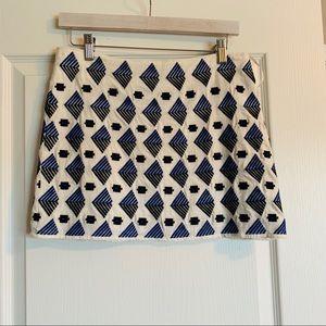 THML Patterned Linen Mini Skirt